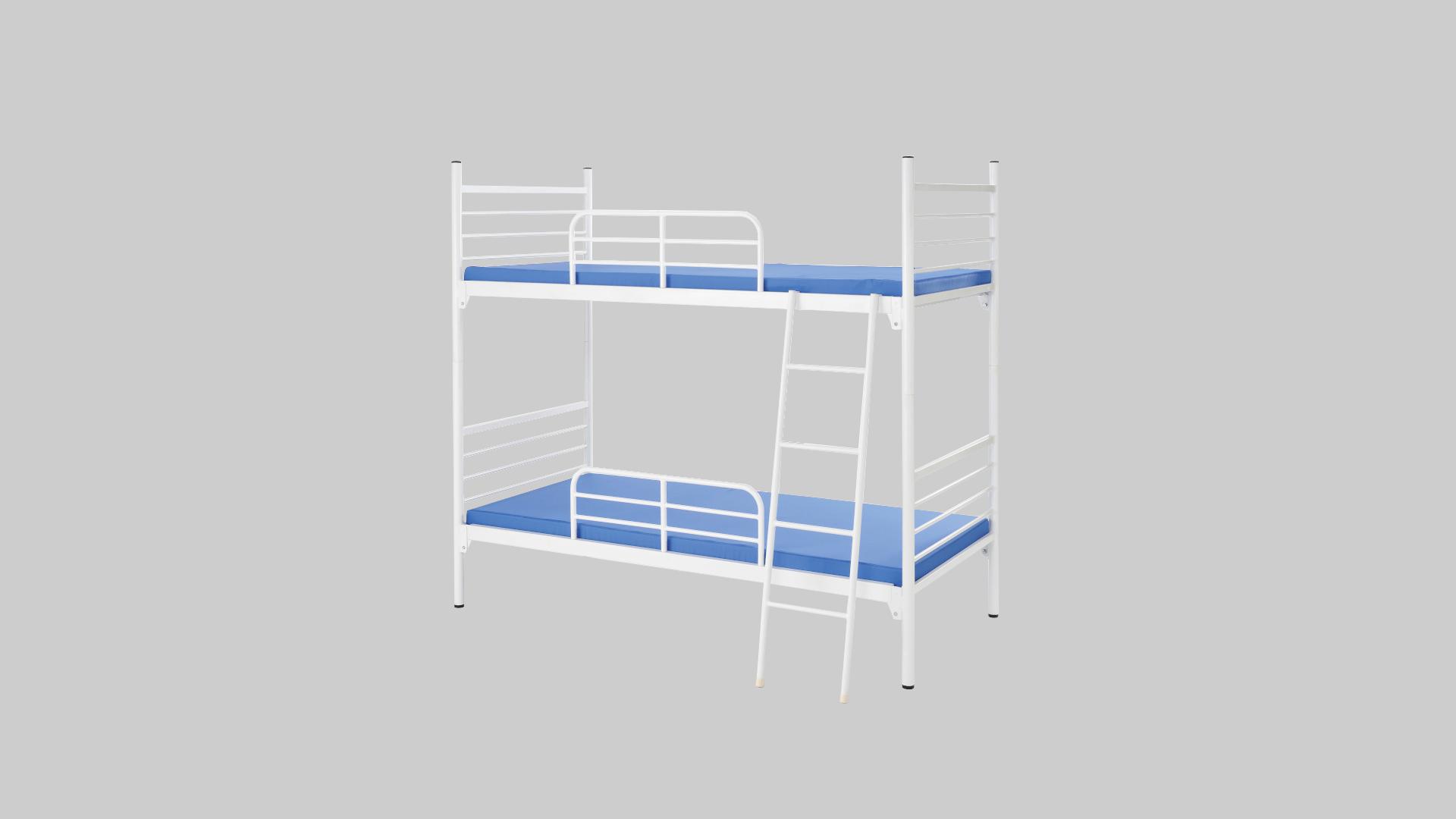スチール2段ベット③サイドレール・梯子付 イメージ