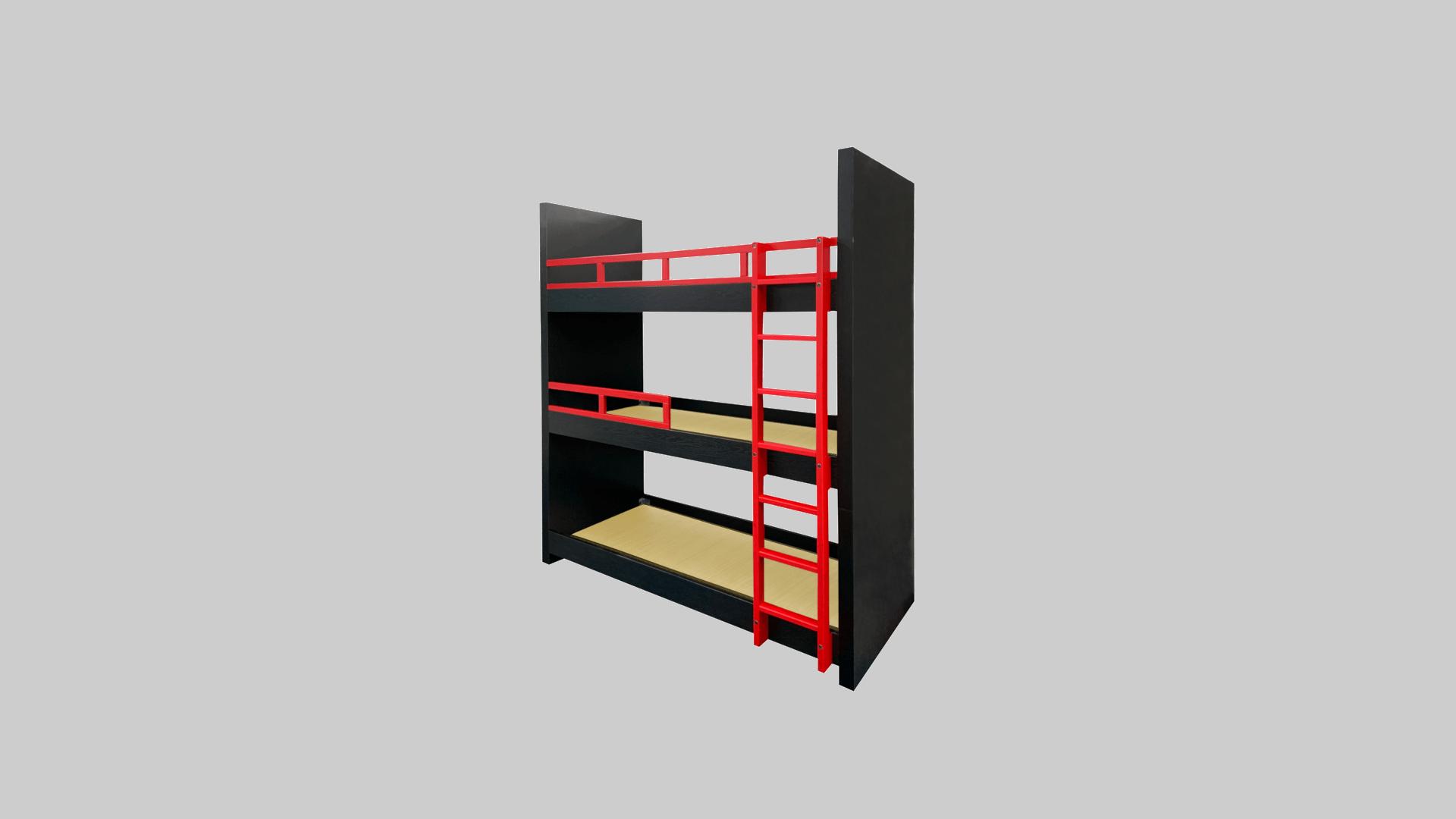 木製3段ベット タタミ・梯子付 イメージ