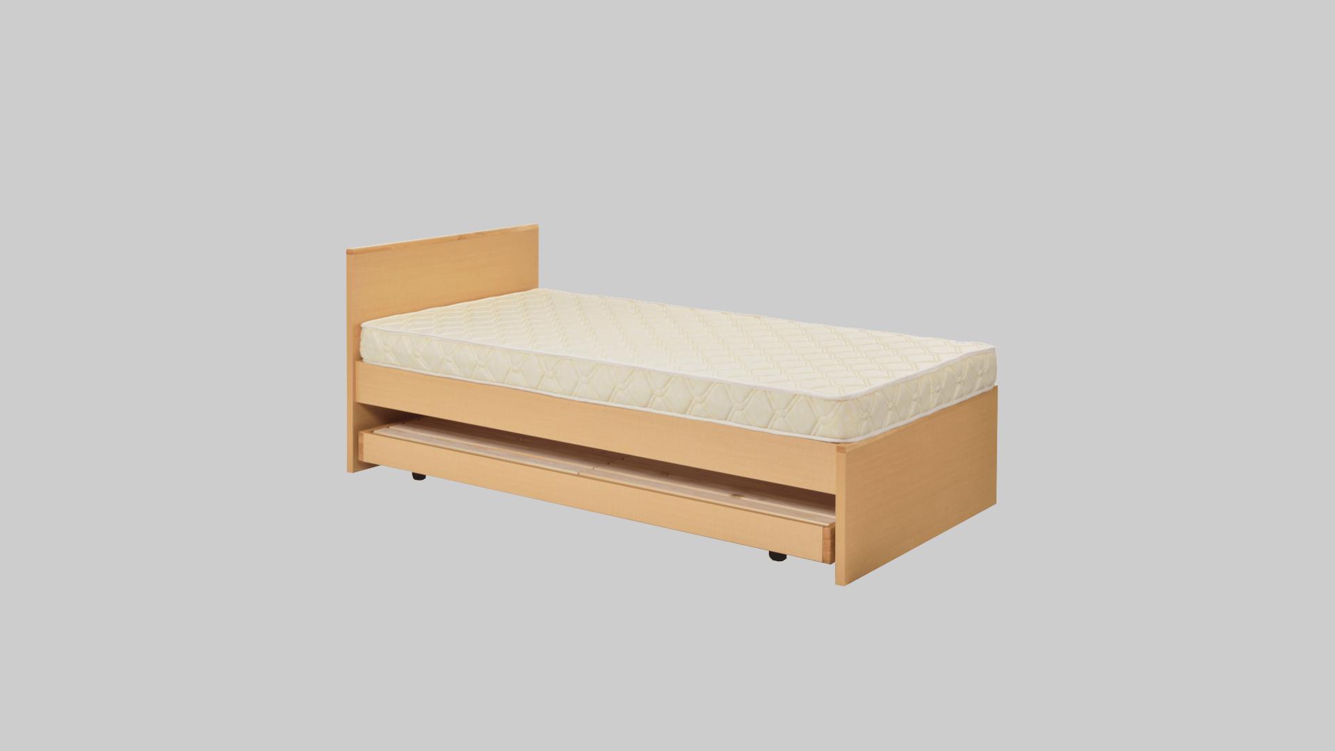 木製親子ベット スプリングマットレス・エステルマットレス付 イメージ